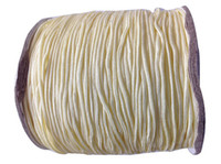 Wholesale 1mm Rattail Cord Wholesale - 1mm Cream Rattail Satin Braid Nylon Cord+Jewelry Accessories Thread Macrame Rope Shamballa Bracelet Wire Beading Cords 350m Roll