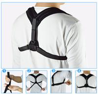 Wholesale Health Belts - Upper Back Posture Corrector Clavicle Support Belt Back Slouching Corrective Posture Correction Spine Braces Supports Health 2017 NEW