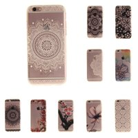 Wholesale Aztec Phone Cases - For iphone 7 Case Art Print Silicon For iphone 6 Coque Soft Aztec Flowers Bohemia Back Cover Phone ipone6 Fundas Etui Accessorie