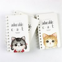 Wholesale Little Notebooks Wholesale - Wholesale- 15.5*9cm Cute Adorable Little Cat Hard Cover Coil Book Portable Pocket Notebook Diary Notepad Stationery Office School Supplies