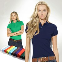 Wholesale Horse Embroidery - Summer New Women clothing brand Polo woman Top quality Small Horse Embroidery Short Sleeve breathable Business Fashion Casual women polo
