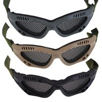Wholesale Metal Mesh Airsoft Goggle - Outdoor Sports Hunting Skiing Snowboard Metal Mesh Glasses Airsoft Net Tactical Shock Resistance Eyes Protecting Ski Goggles