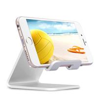 телефонные стойки для стола оптовых-Алюминиевый металлический держатель подставки для телефона для iphone SE 6 6S 7 Plus для Samsung S6 S7 Tablet Desk Holder для смарт-часов