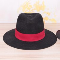 Wholesale Protection Elements - Leisure five colors straw hat summer side of the ball alphabet popular elements