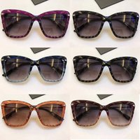 Wholesale Sexy Sport Sunglasses - D6112 G sunglasses Mixed Plank Diced Style Large Cat Eye Gradient Lens Hot Brand Women Designer Sunglasses sexy Slap-up Free ship