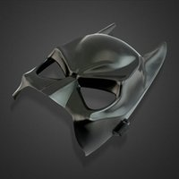 Barato Preto, Metade, Batman, Máscara-Batman Theme Movie Face Mascara Batman Mask Half Face Coberto PVC Preto Cool Masks Halloween Costume Party Decorações Play Rops