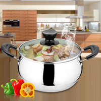 Wholesale Stainless Steel Cookware Sets - Quality stainless steel soup pot non stick cookware set pans pots saucepan cooking casserole non magnetic pot brew kettle