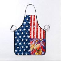 Wholesale Man United Flags - Polyester Apron Kitchen Cooking the United States Apron National Flag Pattern forWomen men Gift 74*56cm About