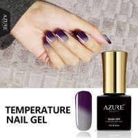 Wholesale Pro Nails Gel - Wholesale-Azure 7ML Newest Temperature Gel Polish Change Color UV Nail Gel Polish UV Led Soak Off Chameleon Thermal Gel Polish Pro Varnish