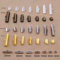 weiße bronze schmuck großhandel-DIY-Schmuckherstellung: 100pcs Eisen Haarnadel-Clips, (Gold, helles Silber, weißes K, Bronze) Größe: 6mm, 8mm, 10mm, 13mm, 16mm, 20mm, 25mm,