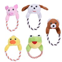 Chien Chat Jouets Animaux Puppy Interactive Peluche Chew Squeaker Sound Toy Duck Bear Pig Designs 1pcs