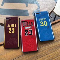 Wholesale Wholesalers Football Phone Cases - James phone cases for iphone7 6 6s plus 7plus Curry Soft TPU painting cover basketball football man defender case