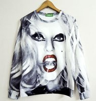 Wholesale lady gaga for sale - 3D Sweatshirts Mens Womens Creative Lady Gaga Printed D O neck Hoodies Autumn Winter Coat Harajuku Tops Casual Pullovers