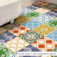 Wholesale Pvc Floor Mat Wholesalers - Environmentally PVC Floor Stickers Wear-resistant Waterproof Non-slip Bathroom Mat Moroccan Style Color Carpet Fashion DIY Home Decorations