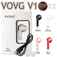 Wholesale Sharp Drivers - V1 Mini Bluetooth Earphones For Samsung S8 Stereo Jogging Headset Single Music Handsfree Wireless Car Driver Stealth Earbuds With Microphone