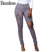 Wholesale Women Colored Summer Skinny Jeans - Wholesale- 2017 spring Women Quality jeans summer Casual Sexy Elastic Pencil Pants Trousers