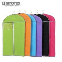 ingrosso set multicolore-Wholesale- 1 PC Multi-color Must-have Home Zippered Garment Bag Vestiti Vestiti Protezione antipolvere Custodia antipolvere Custodia protettiva