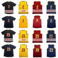 Wholesale Embroidery Logo Shirt - High-quality Men's 2 Kyrie Irving Basketball Jersey 23 LeBron James Adult Rev30 Kid's Youth Embroidery Logos 100% Stitched T-shirt