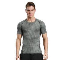 outdoor-shirts für männer großhandel-Outdoor-Sportler für Männer, kurzärmlig, schnell trocknend. Tailliertes Anzug-T-Shirt. Hat eine starke Elastizität, du magst es