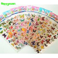 Wholesale Sticker Foam Sheets - Happyxuan 10 sheets  lot Kids Beautiful PVC Puffy Stickers Butterfly Kids Reward Sticker for School Teacher Early Learning Toys