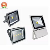 Wholesale Led Projection Floodlights - 2pcs BY DHL 30W 20W 10W 50W 100w 150W 200W LED flood light spot light projection lamp Advertisement Signs lamp Waterproof outdoor floodlight