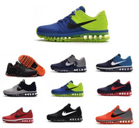 Wholesale Maxs Shoes - Cheap maxs 2017 Men running shoes Hot selling Original quality maxes 2017 KPU cushion sneaker for mens Newest release sneaker 40-47