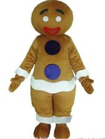 Wholesale Gingerbread Man Mascot Costumes - gingerbread man mascot costume for adult new Christmas gingernut gingersnap theme anime costumes carnivcal fancy dress