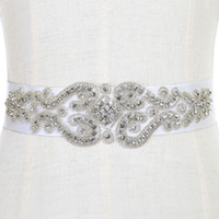 Wholesale Crystal Beading Accessories - Free Shipping Exquisite Heavy Beading Rhinestone Crystals Wedding Belt For Bridal Wedding Accessory Wedding Sashes CPA784
