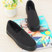 Wholesale Heavy Cotton Canvas Fabric - 2016 new muffin heavy-bottomed shallow mouth of canvas shoes women shoes casual shoes a pedal student flat bottom