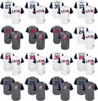 Wholesale Adam Jones Jersey - 2017 World Baseball Classic Team Jersey 27 Giancarlo Stanton 28 Buster Posey 35 Eric Hosmer 22 Andrew McCutchen Adam Jones Men's USA Jersey