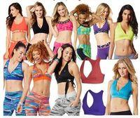 Wholesale Yellow Dance Bra Top - woman dance tops sports Bra Top V Bra racerback free shipping