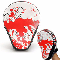 Wholesale boxing punching mitts - 1Pcs Boxing Gloves Pads For Muay Thai Kick Boxing Mitt Mma Training Pu Foam Boxer Hand Target Pad Sandbag Punch Pads