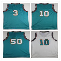 Wholesale basketball times - Men's 10 Mike Bibby Jersey Old Time 3 Shareef Abdur-Rahim Abdur Rahim 50 Bryant Reeves Basketball Jerseys Cheap Teal Green White