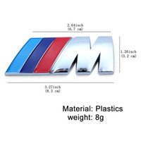 arabalar için spor rozetleri toptan satış-10 Adet / grup ABS Araba Rozeti Amblem için M / M3 / M5 Rozet Güç Spor Hood Boot Arka 3d Sticker Ücretsiz Kargo