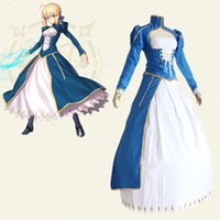 Wholesale Fate Stay Night Game - Altria Pendragon Saber cosplay costumes Japanese game Fate stay night Fate Zero combat suits Halloween Masquerade Mardi Gras Carnival costum