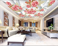 murales d papel pintado para techos marco blanco rosas romnticas para techo de techo de