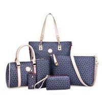 Wholesale Crochet Handbags Wholesale - 2017 6pcs lot S815 with Women Ms. girl embossed handbags shoulder bags messenger bags purse wallets new fashion handbag shoulder bag Messeng
