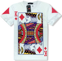 Wholesale Free Poker Flash - Diams King T shirt Poker card short sleeve Free shipping tees Casual clothing Unisex cotton Tshirt