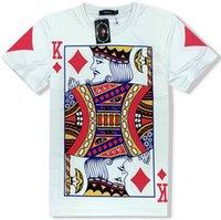 mangas de tarjetas de envío gratis al por mayor-manga corta diams Rey T tarjeta de la camisa del póker del envío libre tees ropa informal camiseta de algodón unisex