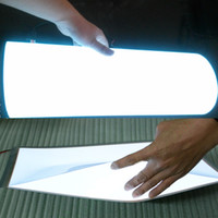 Wholesale A2 Paper - A1 A2 A3 A4 A5 El glow paper light cold light flexible panel lights ultra thin light modules for advertising board customize