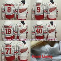 Wholesale Detroit Hoodie - Detroit Red Wings Dylan Larkin Gordie Howe 19 Steve Yzerman 8 Justin Abdelkader 40 Henrik Zetterberg 2017 Centennial Classic Jerseys Hoodies