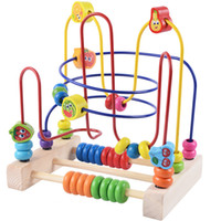 Wholesale Children s wooden beads around the early puzzle beads around the development of intellectual intellectual wood toys