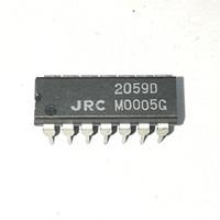 ingrosso componenti ic-2059D. NJM2059D. JRC2059D, doppio pacchetto in plastica a 14 pin in linea. Componenti IC circuito integrato AMPLIFICATORE OPERATIVO PDIP14 / QUAD