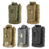 Barato Bolsas De Revista De Pistolas De Molle-MOLLE Tactical Open Top Double Decker Single Rifle Pistola Mag Pouch Magazine Bag Outdoor Camping Caminhada Saco de cintura CCA7347 50pcs