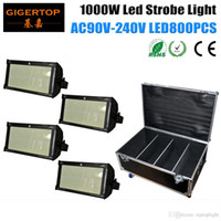 4in1 Flight Case Packing 4XLOT 1000W Stage Led Strobe Light 800PCS SMD 50-50 Cree Led Lamp White Shinning Blinder Специальный эффект TP-S1000