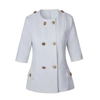 Wholesale Ladies Half Jackets - new with label and tag Brand BTop Quality Original Design Women's Ladies Females half sleeve jacket Blazer outwear Metal Buckle
