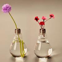 jarrones modernos vaso de vidrio floreros de terrario floreros lindos vidrio de mesa