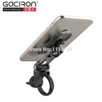 Wholesale Bicycle Handlebar Cap - Wholesale-New GACIRON 2 in1 Cycling Phone Holder Universal Phone Mount Bracket Universal Bicycle HandleBar Stem Cap Mount Holder Stand