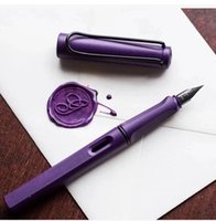 Wholesale Transparent Plastic Type - + Gift Box Sarari Series Fountain Pen Lmited Version 2017 Popular Transparent  Lirac Purple Student  Office Ink Pen