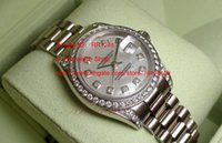 Wholesale New Ladies Top Collection - 2017 Luxury AAA Top Quality original box Crown Collection Ladies 18kt White Gold Diamond 179159 Sport Automatic Ms Watches
